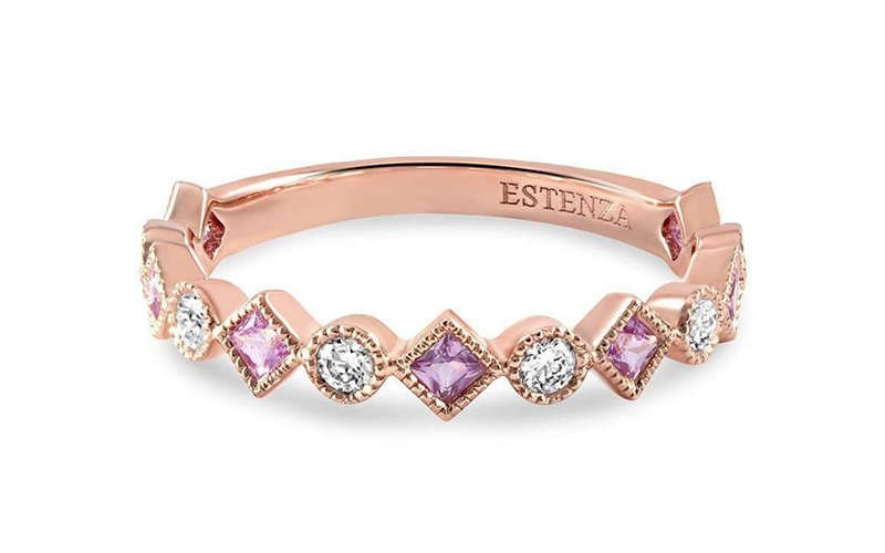 Rea Rose Gold Pink Sapphire Ring - Estenza