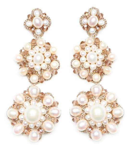 Purity White Laced Pearl Earrings