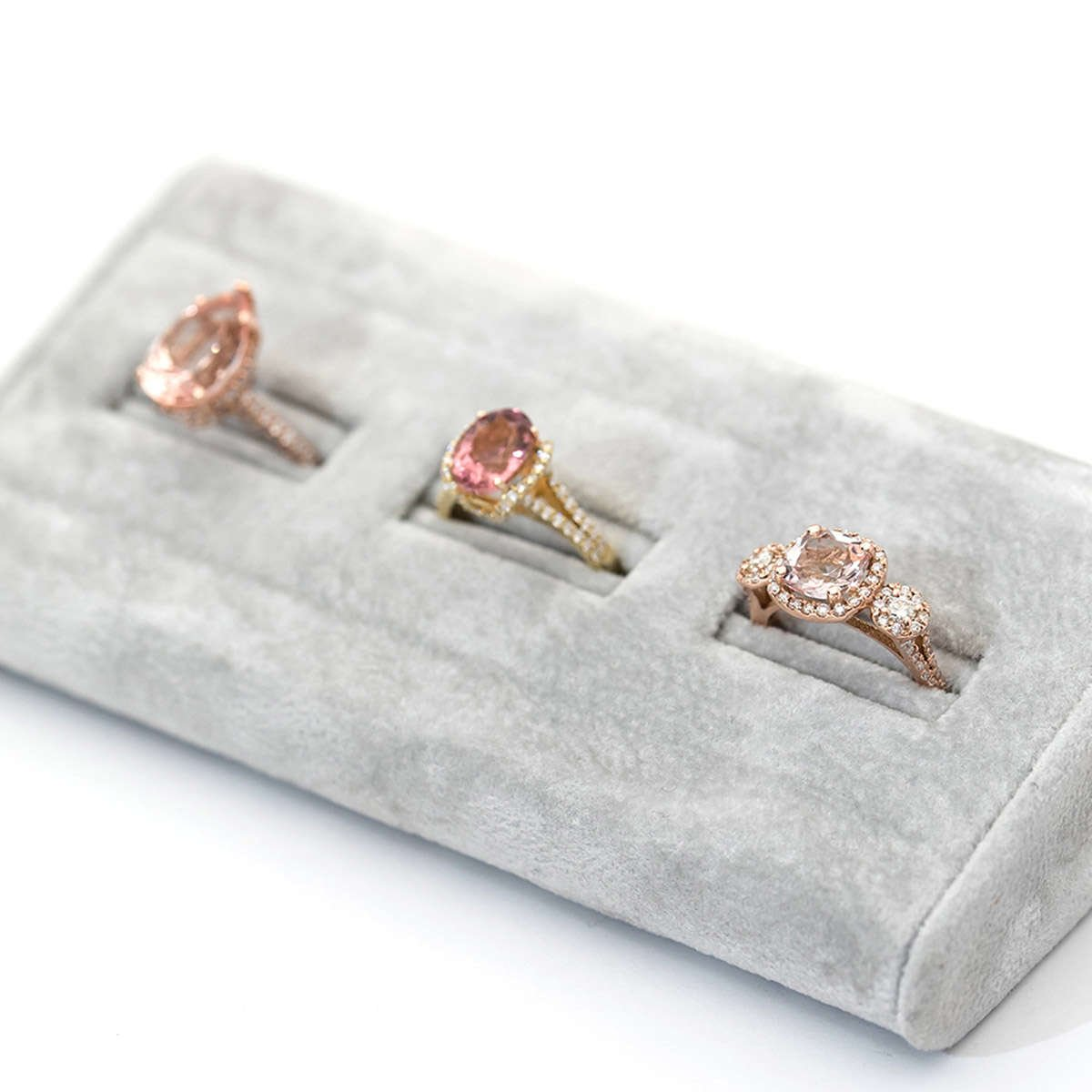 Selection of Rose Gold engagement rings