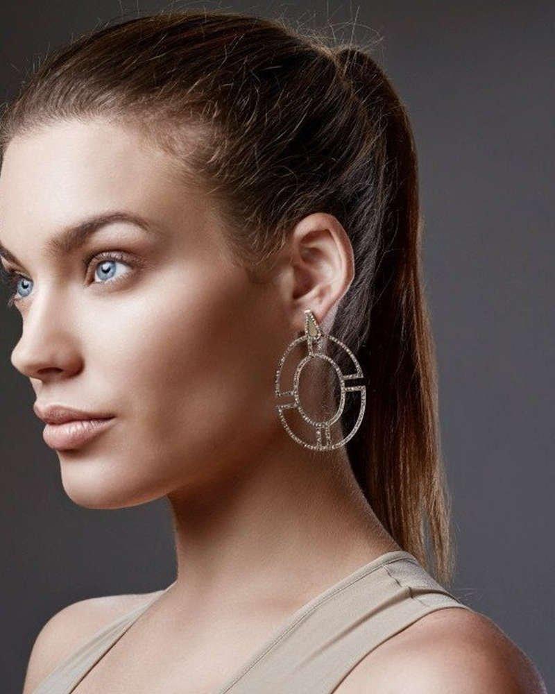 Byzantium Gold Diamond Earrings - Polina Sapouna Ellis