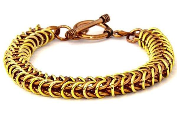 Two Toned Snake Bracelet - Elementas Jewelry