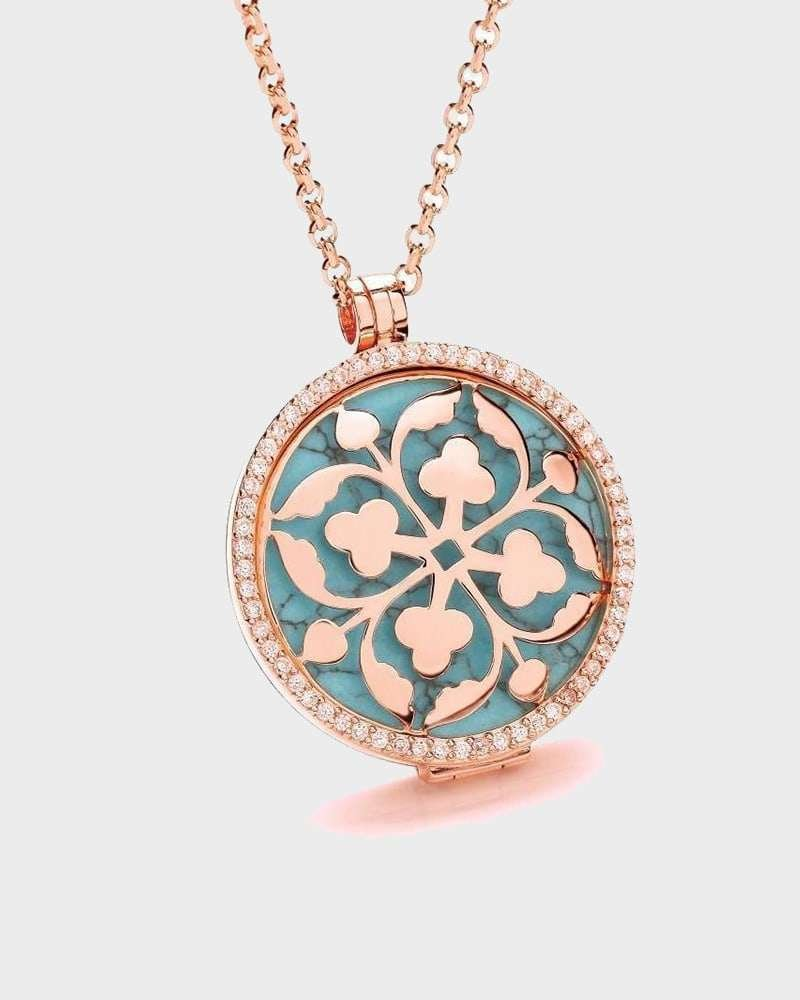 Alternative Rose Gold Locket, Virtue London