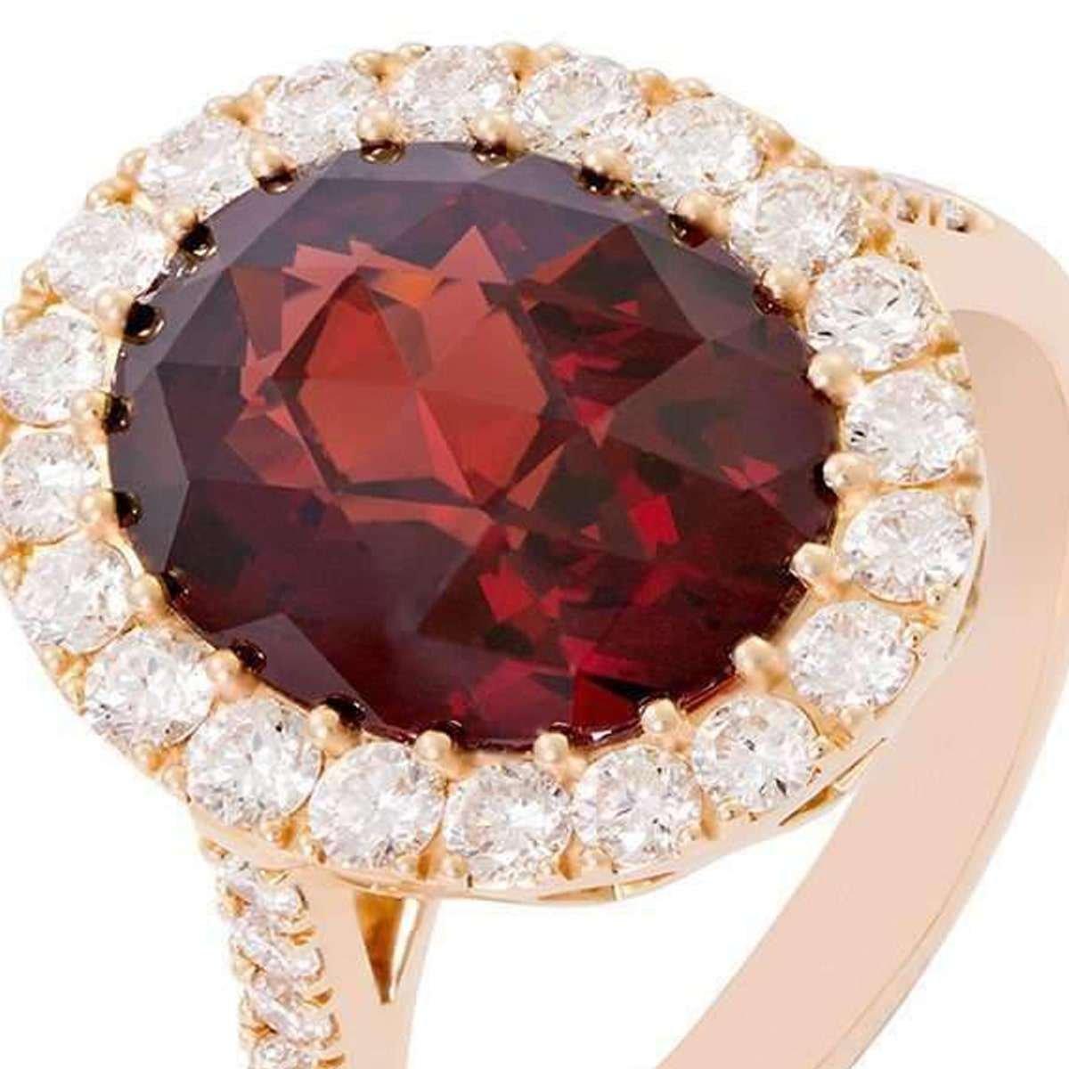 January birthstone - garnet ring