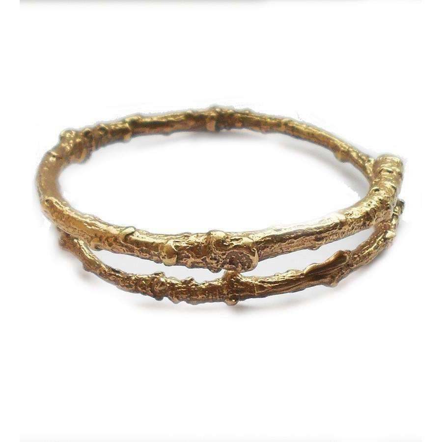 Gold Vermeil Twig Bangle - Tracy Hills Jewellery