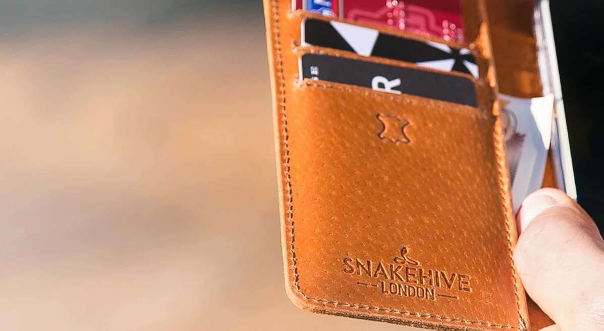 The inner part of our leather wallet phone cases