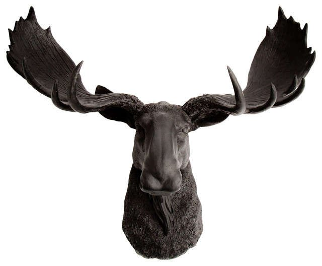 Large Black Moose Head Wall Mount 18 5 Quot Tall 24 Quot Wide