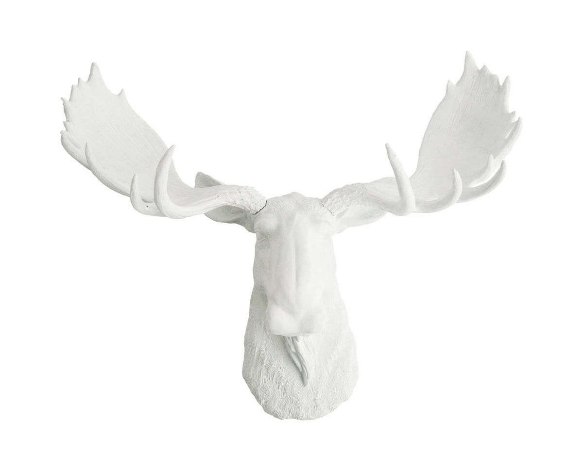 Faux Taxidermy Moose Head Wall Mount, The Edmonton by WhiteFauxTaxidermy