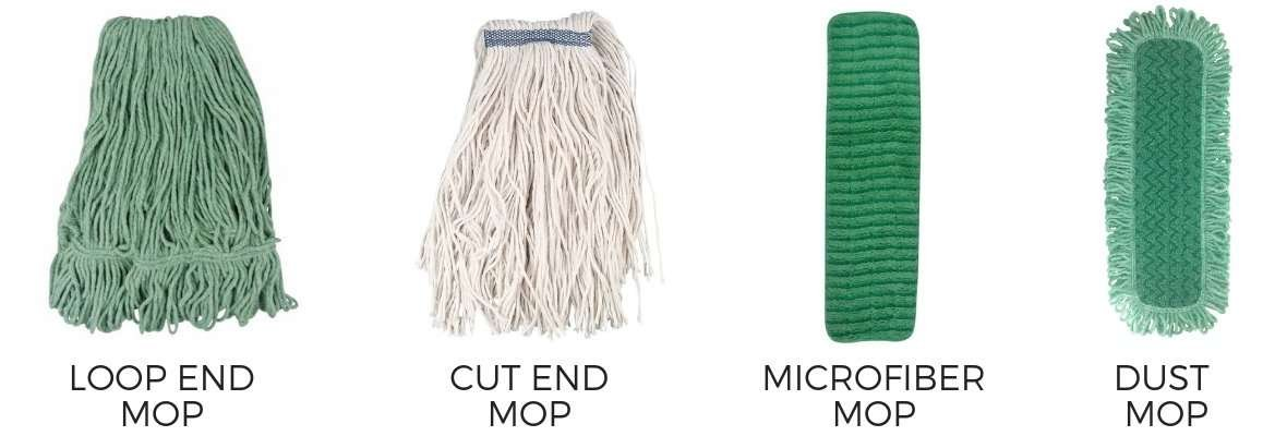 different types of mop heads