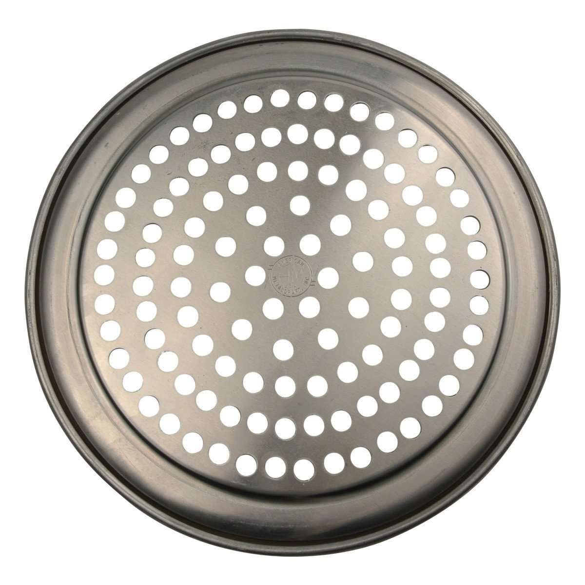 Wide Rim Perforated Aluminum Pizza Pan