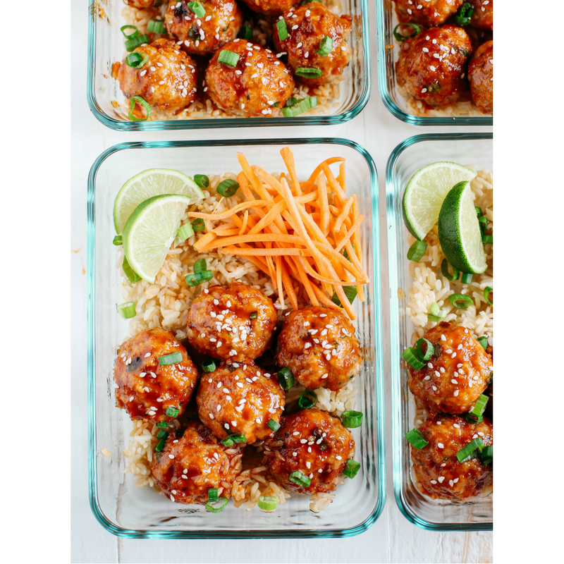 Honey Sriracha Glazed Meatballs Meal Prep Recipe