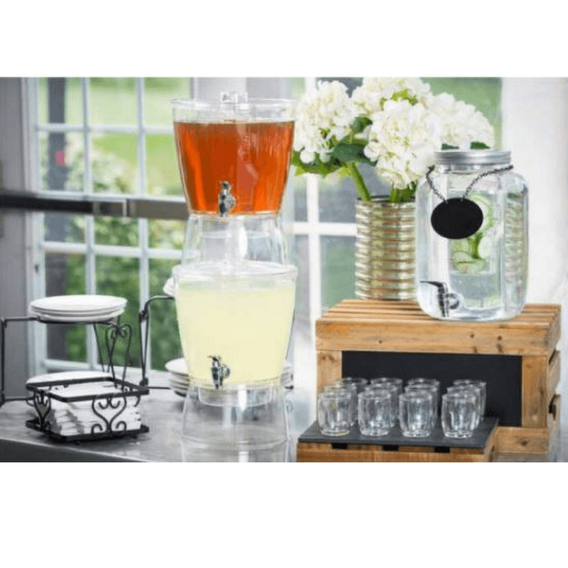 beverage dispensers for weddings, beverage tubs for parties