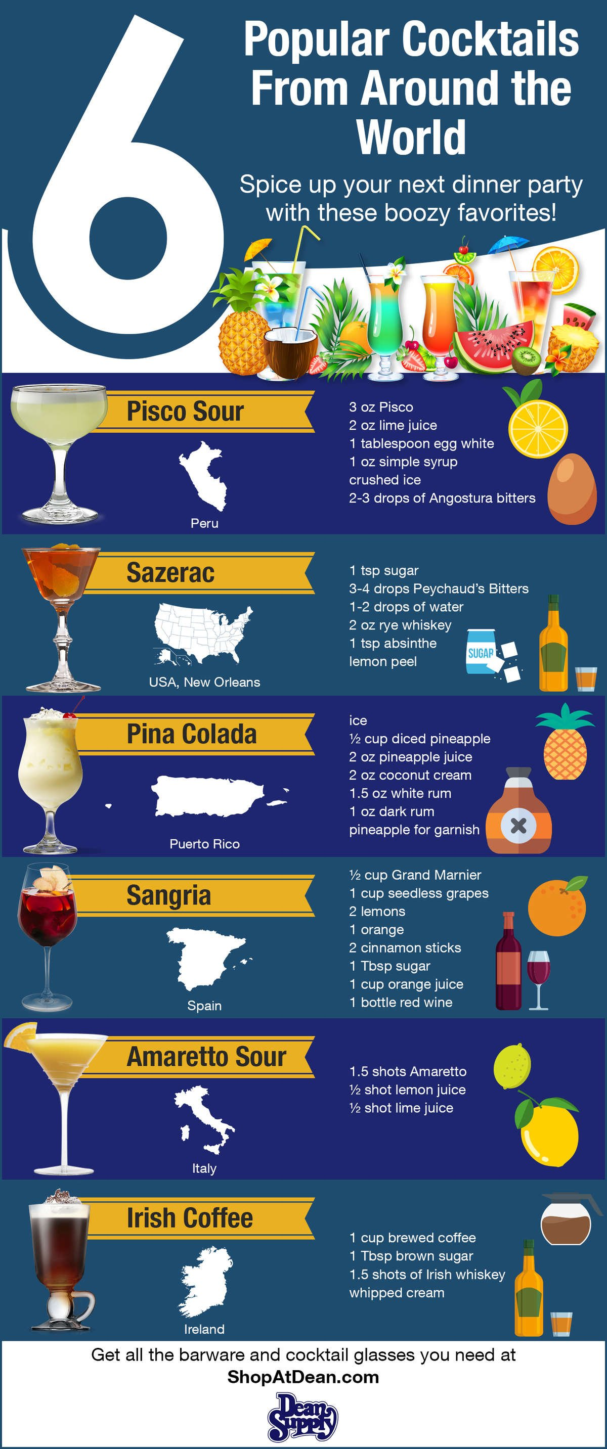 6 Popular Cocktails From Around The World Shopatdean
