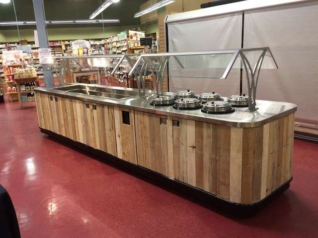 Customizable serving line creation for schools, universities and grocery stores