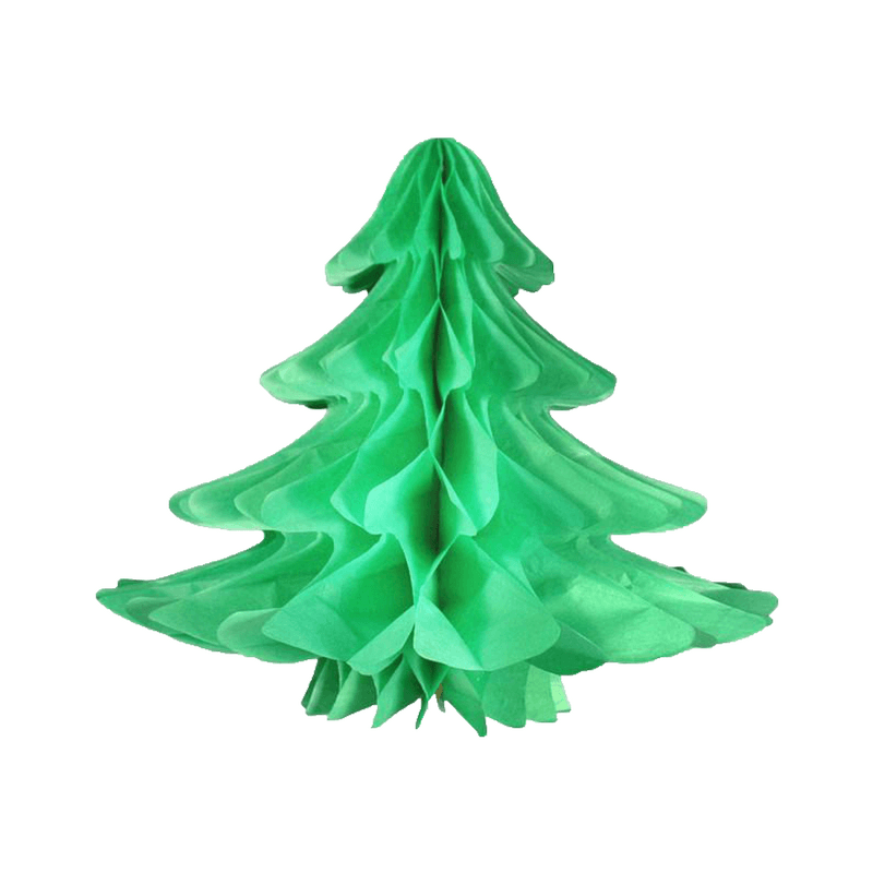 hanging tissue tree - christmas decorations for office or school