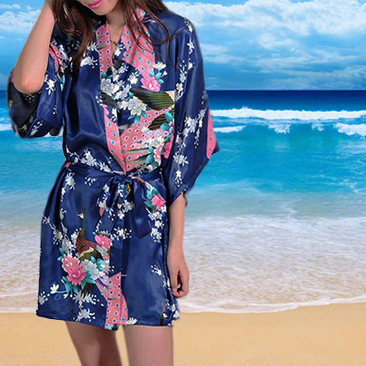 Womens Short Floral Robes