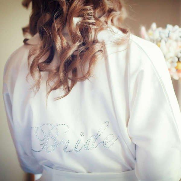 Bridal Robes with Rhinestones