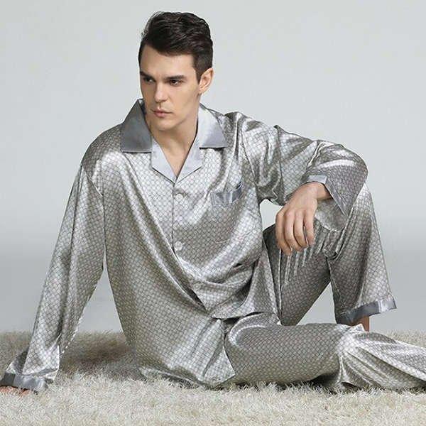 Mens Pajamas Satin