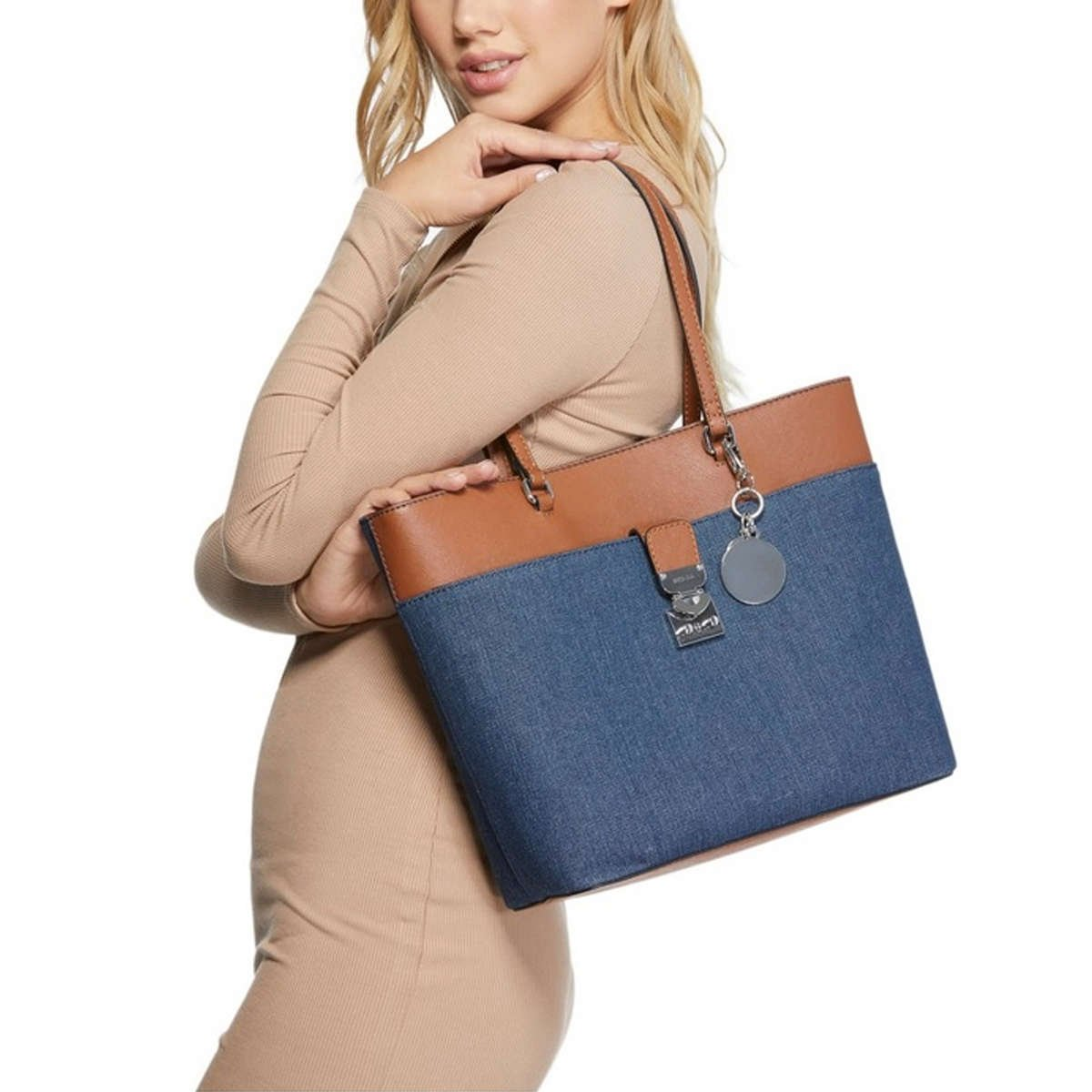 Guess Maxwell Satchel Handbag