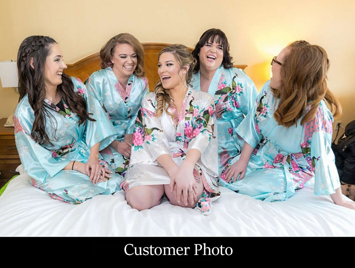 Getting Ready Bridal Party Robes More Gifts Are Blue