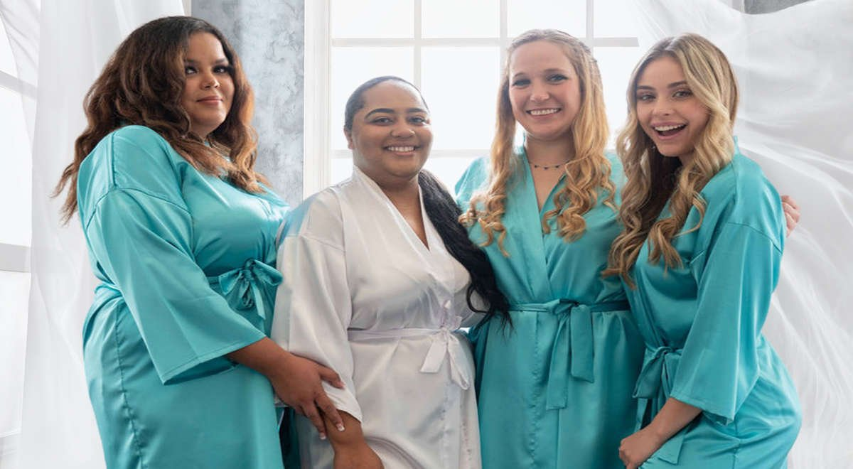 Personalized Bridesmaid Robes for Wedding Bridal Party