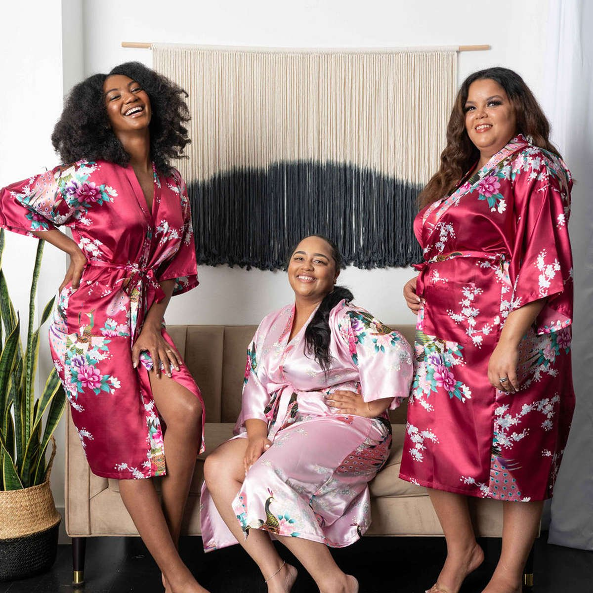 Womens Floral Kimono Robe - Getting Ready Robes - Flower Girl Robes - Bridesmaid Robes