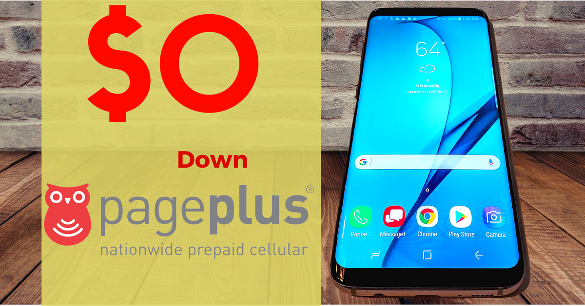 0 Down phones for Pageplus Prepaid No contract