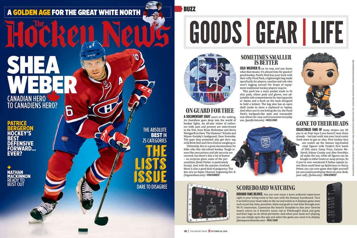 The Hockey News features the Pond Pack