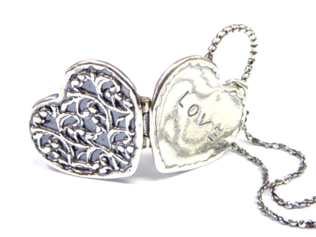 silver necklaces love charms
