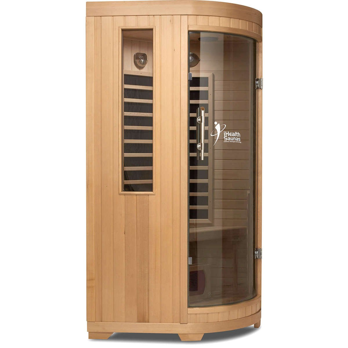 1 person deluxe far infrared sauna online ihealth saunas. Black Bedroom Furniture Sets. Home Design Ideas