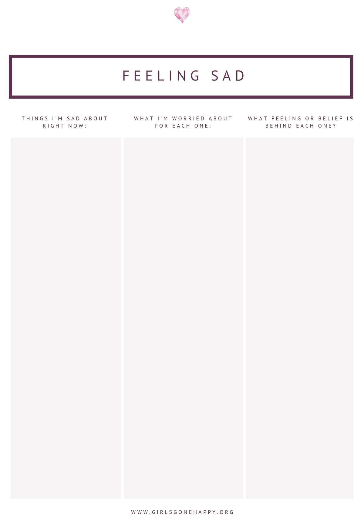Feeling Sad Journaling List