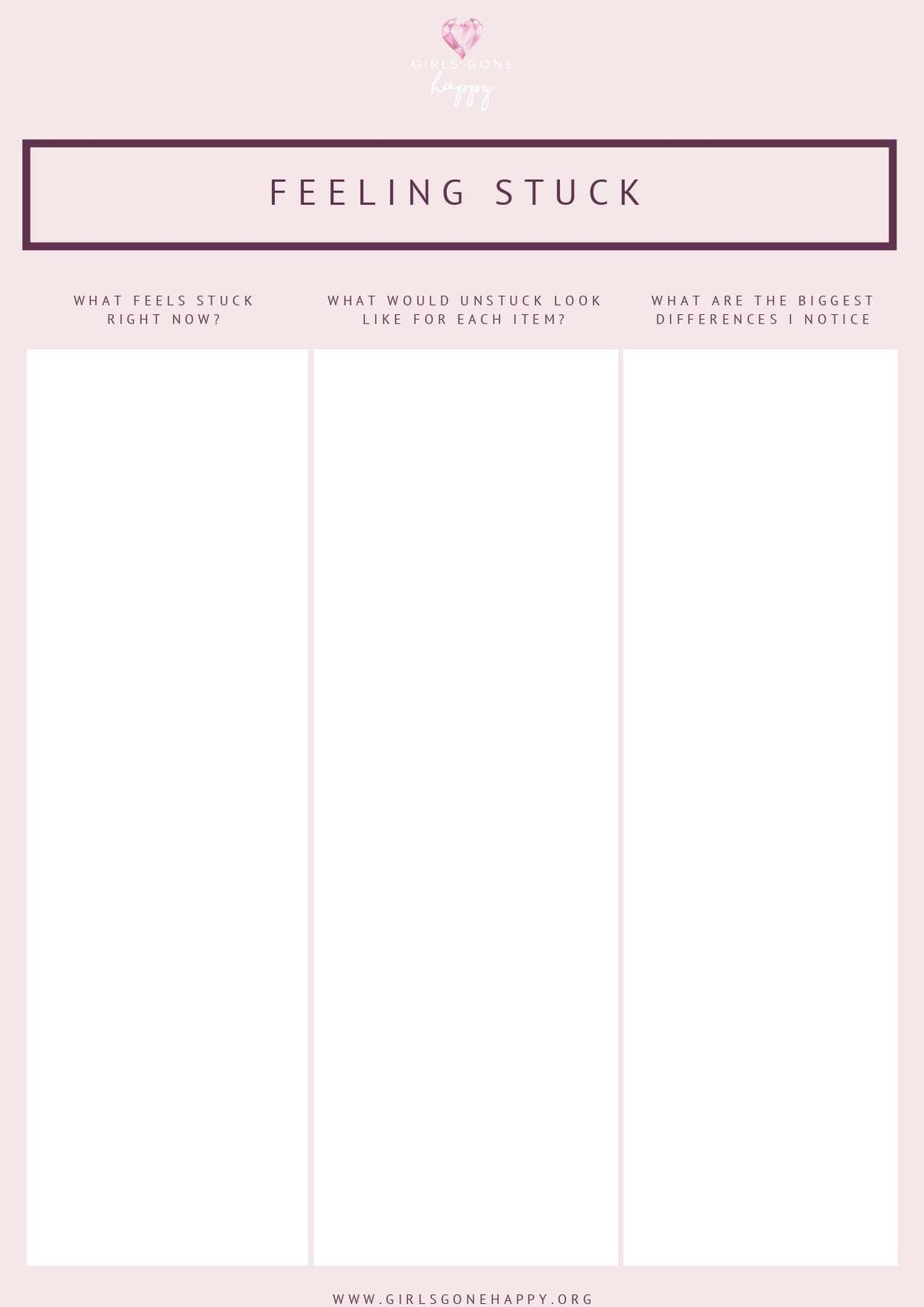 Feeling Stuck Journaling List