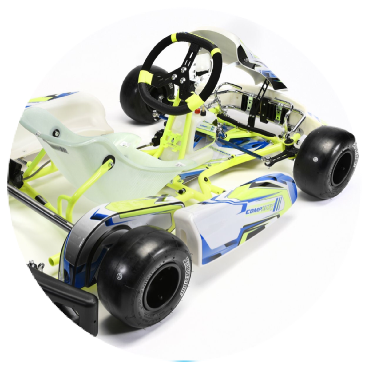 Kids aged 7 or 8 to 11 at most tracks will race a cadet kart which is  essentially a 3/4 sized kart and uses a spec 28mm sized frame and a spec ...