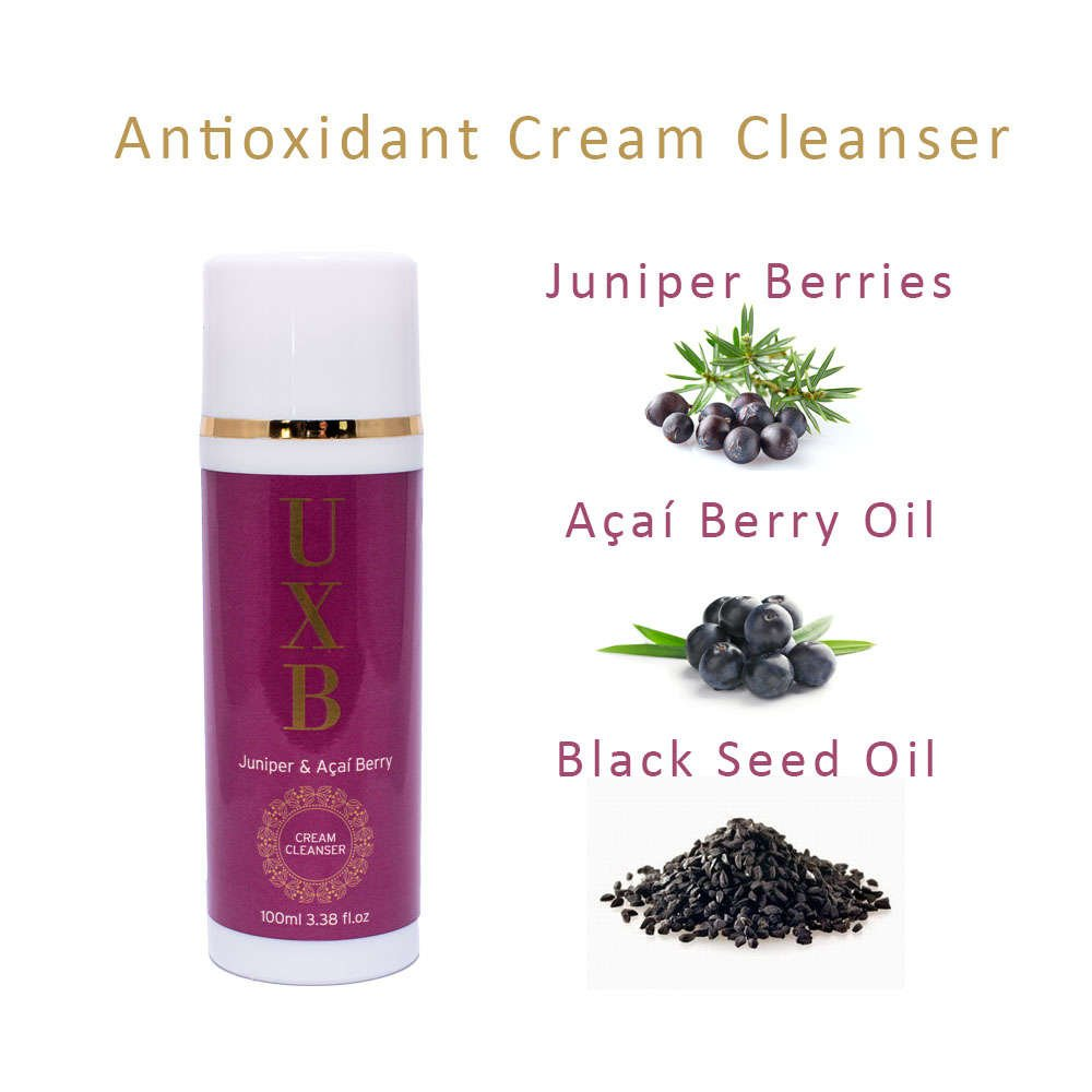 juniper & acai berry face wash