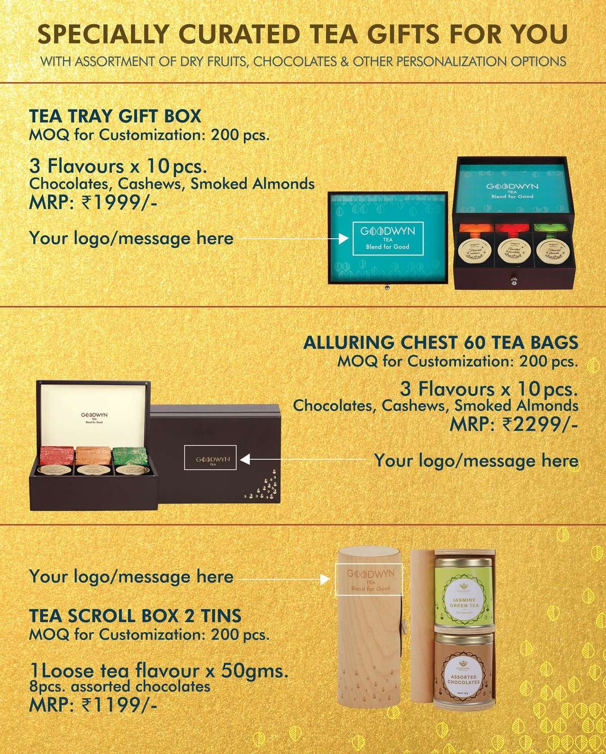 diwali gift tea boxes