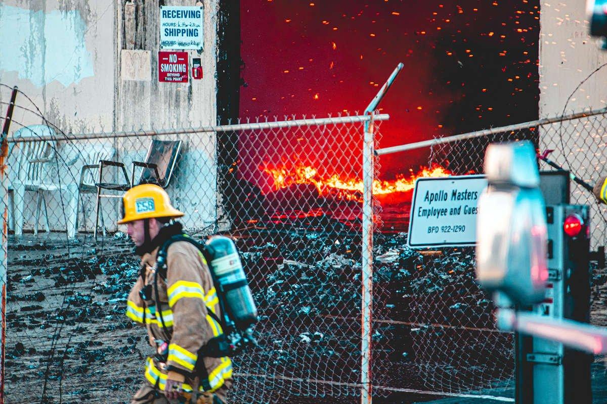Apollo Masters building burns down