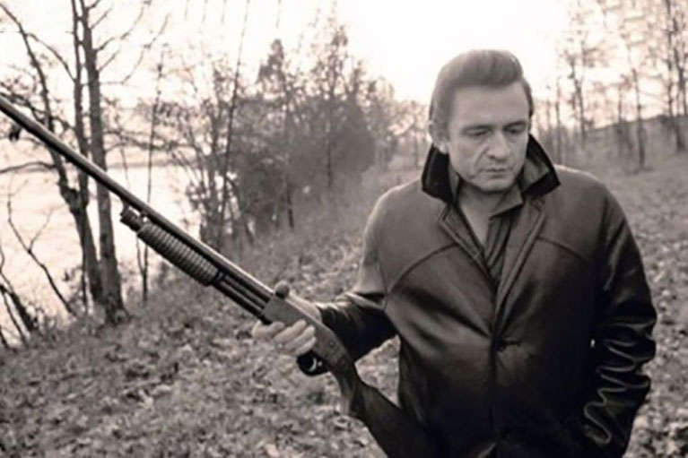 Johnny Cash with a gun