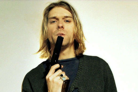 Cobain with a gun