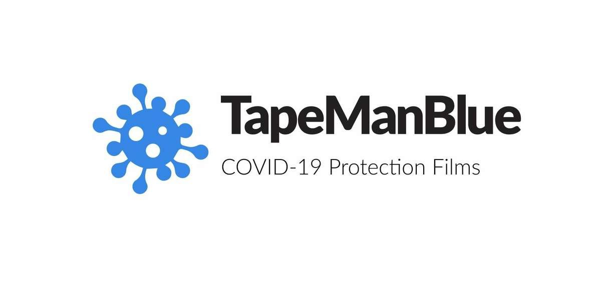 TapeManBlue COVID-19 protection films logo