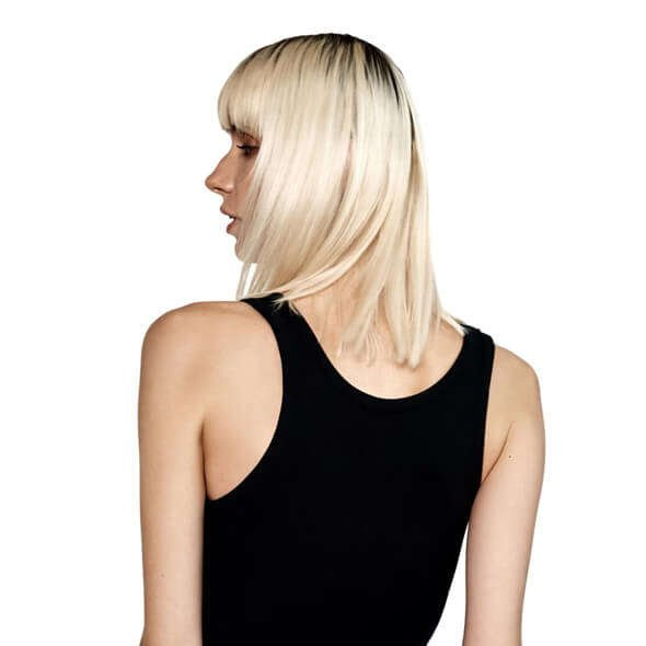 Back-Side View of NYC Black Ribbed Cotton Tank Top