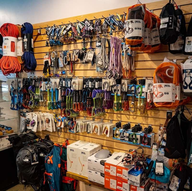 climbing gear, climbing harnesses, climbing ropes and more