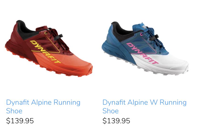 trail running footwear