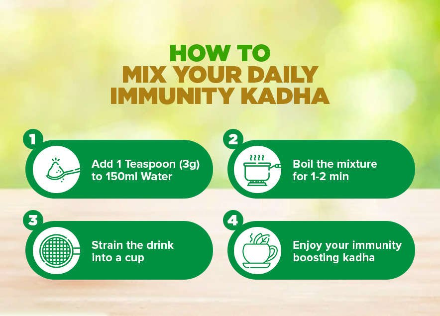 How to mix your daily immunity boosting ayush kwath kadha