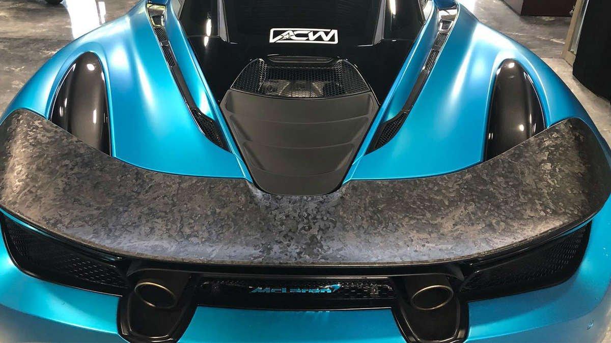 hexis forged carbon fiber mclaren 720s