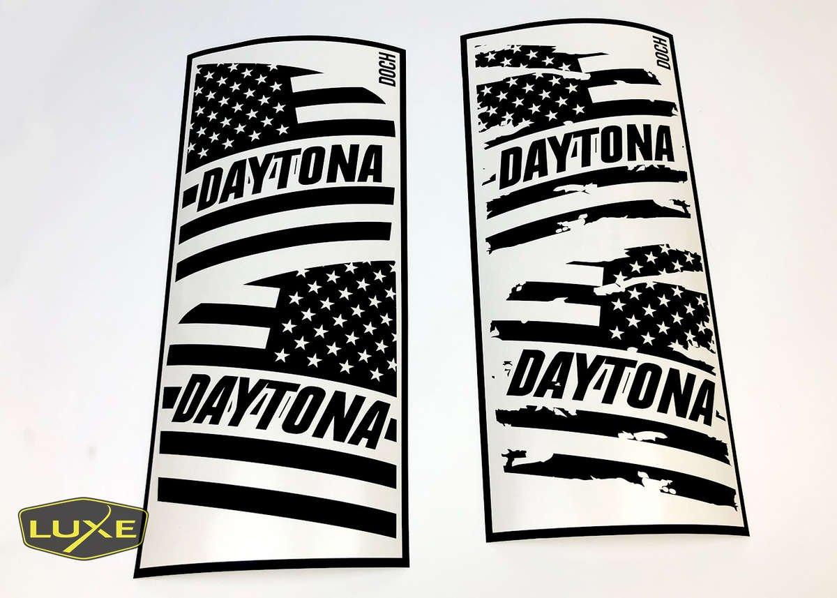 Daytona Rear Window American Flag Decal