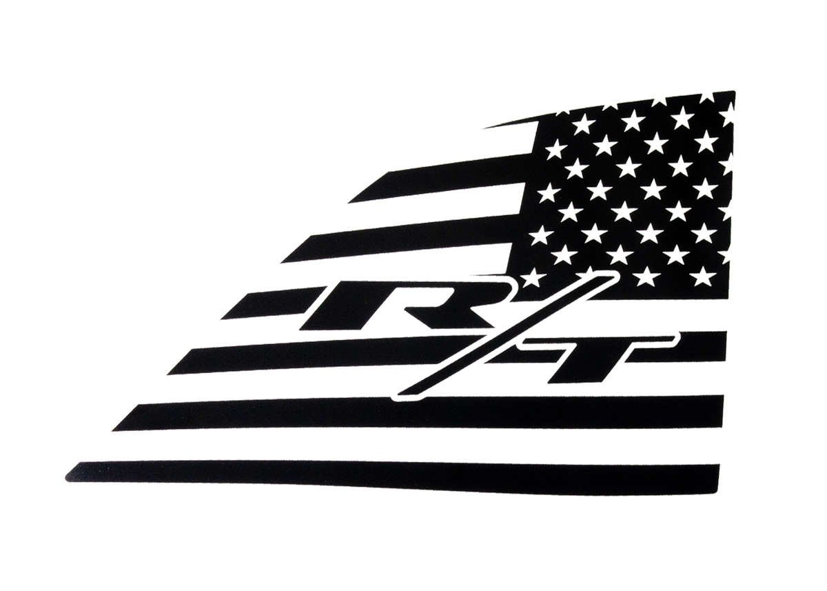Scat Pack Bee Rear Window American Flag Decal