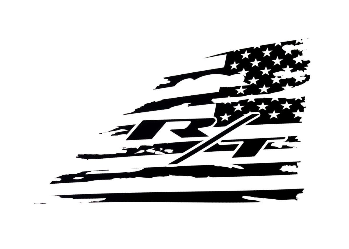 SRT Rear Window American Flag Decal