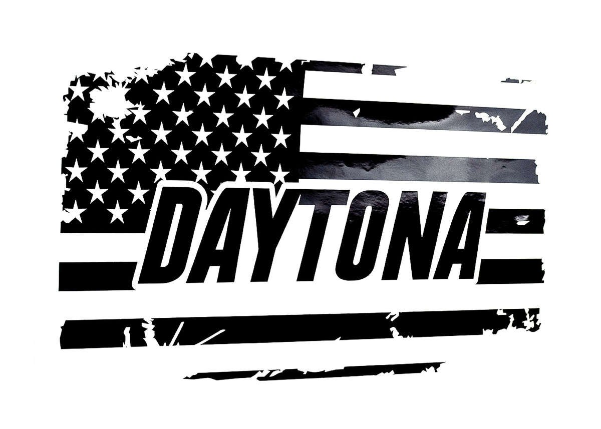 Daytona Rear Window American Flag Decal