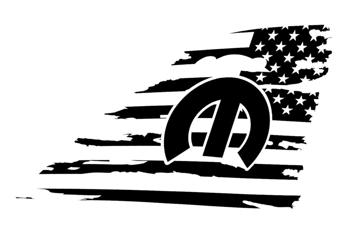 R/T Rear Window American Flag Decal