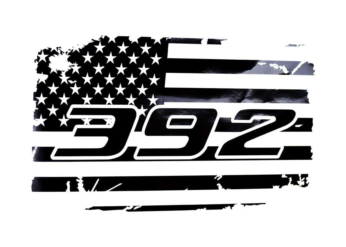 392 Rear Window American Flag Decal