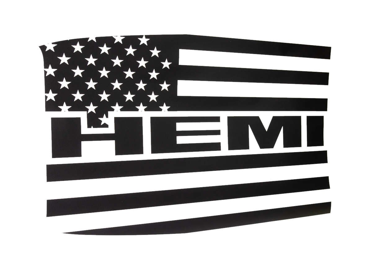 Challenger HEMI Flag Decal